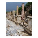 Camino romano antiguo en la ciudad de Ephesus, Tur Tarjeta Postal