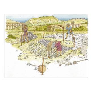 Camino romano. Detalle Postal
