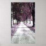 camino rosado de Forrest Gump Poster