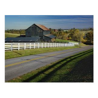 Camino rural con la región del Bluegrass de 2 Postal