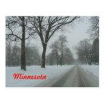 Camino rural en Minnesota Postal