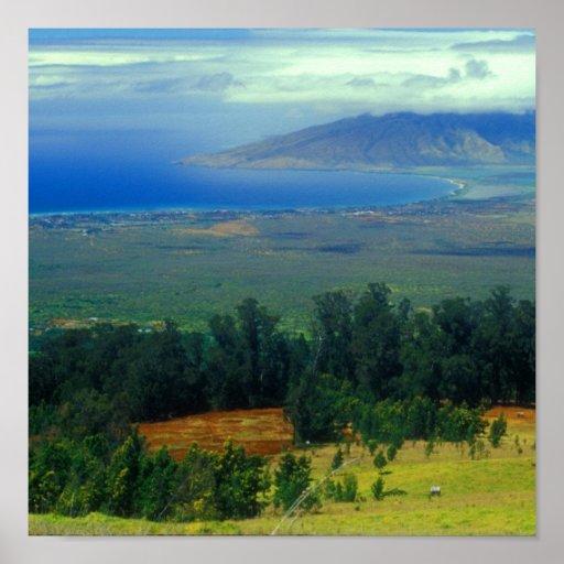Camino rural Vista de Maui Wapoli Poster