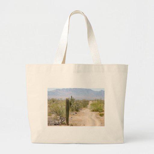 Camino solo 02 del desierto bolsa tela grande