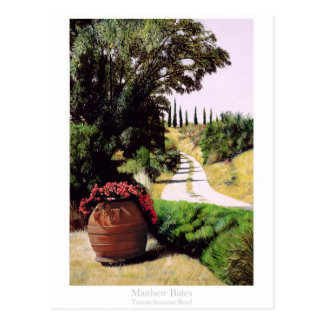 Camino toscano del verano tarjetas postales