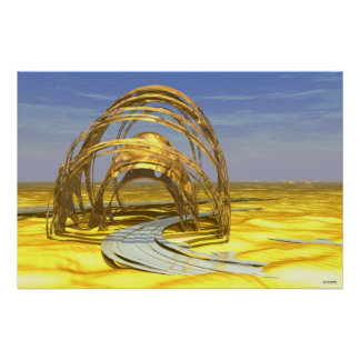 Caminos abandonados #04-05: Monumento surrealista  Poster