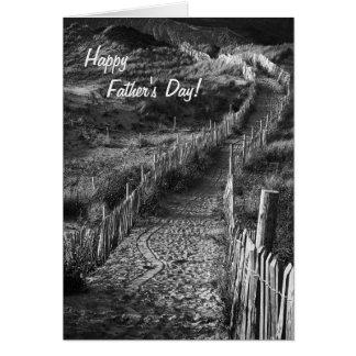 Caminos - bella arte del día de padre - hockey tarjeta de felicitación