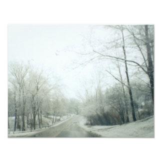"""Caminos congelados invitación 4.25"""" x 5.5"""""""