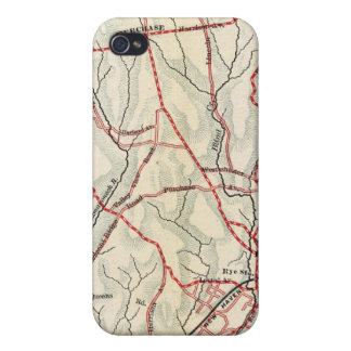 Caminos de la bicicleta en Nueva York y Connecticu iPhone 4 Carcasas