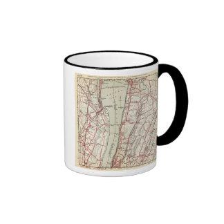 Caminos de la bicicleta en Nueva York y Connecticu Tazas De Café