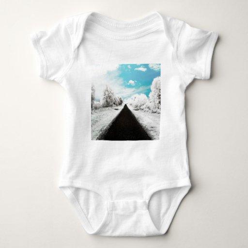 Caminos diarios abstractos del invierno body para bebé