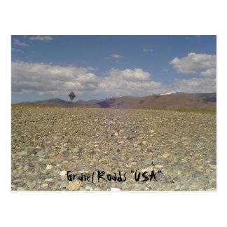 """Caminos los """"E.E.U.U. """" de la grava Postal"""