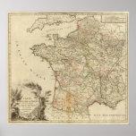 Caminos postales de Francia Poster