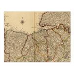 Caminos y bosques romanos tarjeta postal
