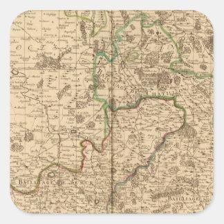Caminos y campos de batalla romanos pegatinas cuadradases