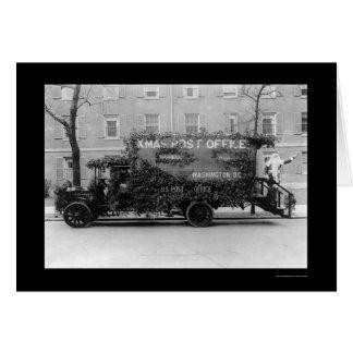 Camión 1921 de la oficina de correos del navidad tarjetón