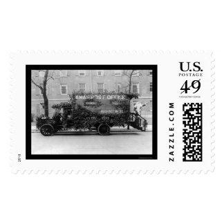 Camión 1921 de la oficina de correos del navidad timbre postal