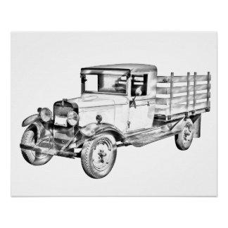 Camión 1929 de Chevy ejemplo del cuerpo de la Perfect Poster