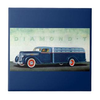 Camión 1937 del azul del diamante T Azulejo Cuadrado Pequeño