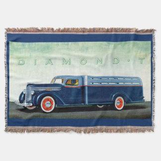 Camión 1937 del azul del diamante T Manta