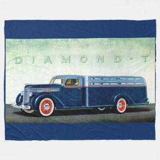 Camión 1937 del azul del diamante T Manta De Forro Polar