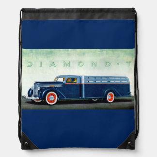 Camión 1937 del azul del diamante T Mochilas