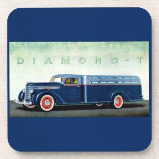 Camión 1937 del azul del diamante T Posavasos De Bebida