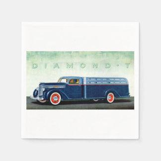 Camión 1937 del azul del diamante T Servilletas Desechables