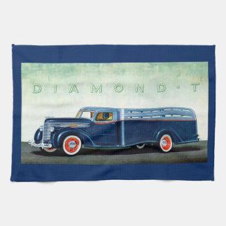 Camión 1937 del azul del diamante T Toallas De Cocina