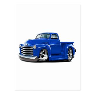 Camión 1950-52 del azul de Chevy Postales