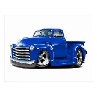 Camión 1950-52 del azul de Chevy Tarjeta Postal