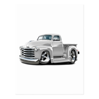 Camión 1950-52 del blanco de Chevy Tarjeta Postal