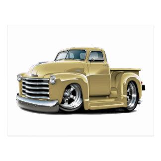 Camión 1950-52 del moreno de Chevy Tarjeta Postal