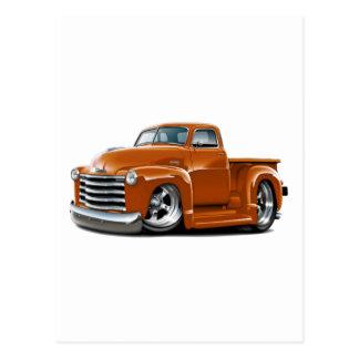 Camión 1950-52 del naranja de Chevy Postales