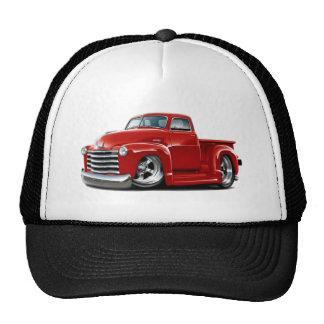 Camión 1950-52 del rojo de Chevy Gorro De Camionero
