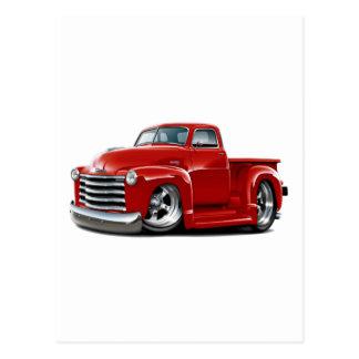 Camión 1950-52 del rojo de Chevy Postal