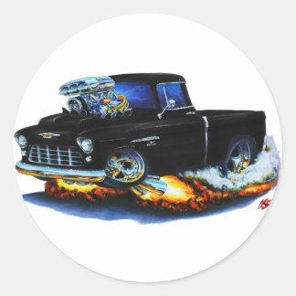 Camión 1955 del negro de la recogida de Chevy Pegatinas