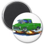 Camión 1955 del verde de la recogida de Chevy Imán De Frigorifico