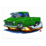 Camión 1955 del verde de la recogida de Chevy Tarjeta Postal