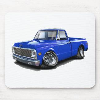 Camión 1970-72 del azul de Chevy C10 Mousepads