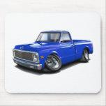 Camión 1970-72 del azul de Chevy C10 Tapetes De Ratones