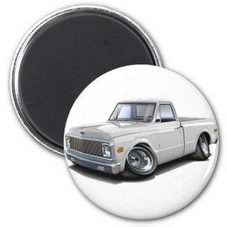 Camión 1970-72 del blanco de Chevy C10 Imanes De Nevera