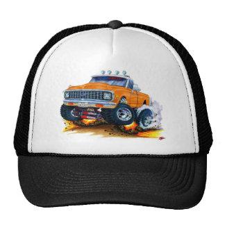 Camión 1970-72 del naranja de Chevy CK1500 Gorras