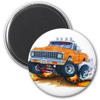 Camión 1970-72 del naranja de Chevy CK1500 Iman De Frigorífico