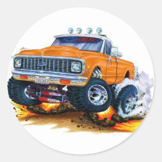 Camión 1970-72 del naranja de Chevy CK1500 Etiqueta