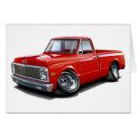 Camión 1970-72 del rojo de Chevy C10 Tarjeta De Felicitación