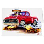 Camión 1970-72 del rojo de Chevy C10 Tarjetón