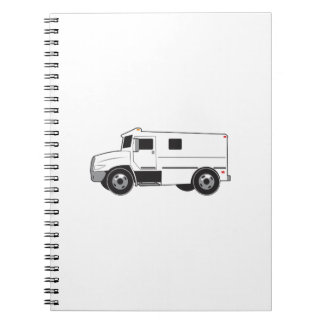 Camión acorazado libro de apuntes con espiral