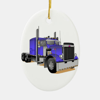 Camión Adorno Navideño Ovalado De Cerámica