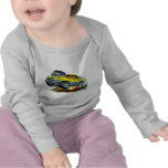 Camión amarillo de la avalancha camisetas