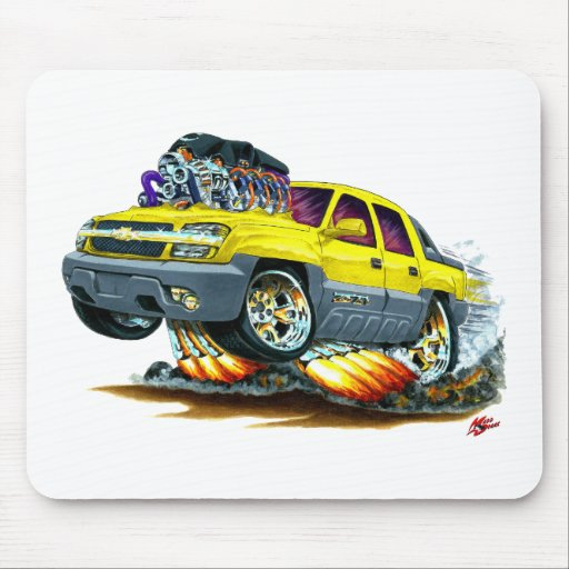 Camión amarillo de la avalancha tapetes de ratones